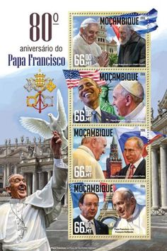 MOZ16224a 80th anniversary of Pope Francis (Pope Francis with Fidel Castro; Pope Francis with Barack Obama; Pope Francis with Vladimir Putin; Pope Francis with François Hollande)