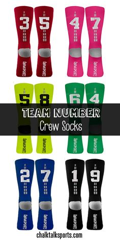 These woven team number crew socks would make a great gift for any basketball player! Available in 6 different colors to wear all summer long! Personalize with team number and basketball player's fa (Basketball Ideas) Basketball Compression Pants, Adidas Basketball Shoes, Basketball Gifts, Love And Basketball, Soccer, Basketball Season, Basketball Court, Lacrosse Socks, Volleyball Socks