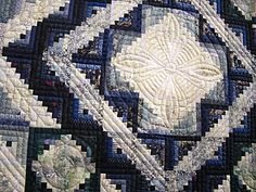 I like the quilting on this log cabin