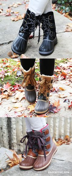 "Feeling like you've been missing something in your life? May the Bamboo Blizzard-01 Lace Up Duck Boots Gray fill the void! Features a round toe, lace up design, rubber/faux leather upper, and metallic buckle details. Finished off with a 1"" flat heel, slightly padded insole, and cozy fuzzy lined interior for extra warmth. Top off the look with a knitted oversized sweater!"