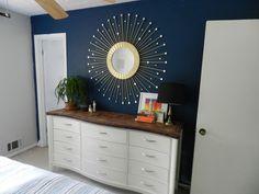 Cute DIY starburst mirror!  http://itsabrightlife.com/brightlittlehouse/2012/07/sunburst-mirror/
