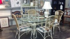 vintage metal patio dining set