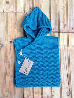 Hand Knitted Chunky Hoodie Vest Fable Baby