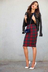 tartan pencil skirt bmodish