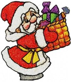 Advanced Embroidery Designs - Santa with Gifts
