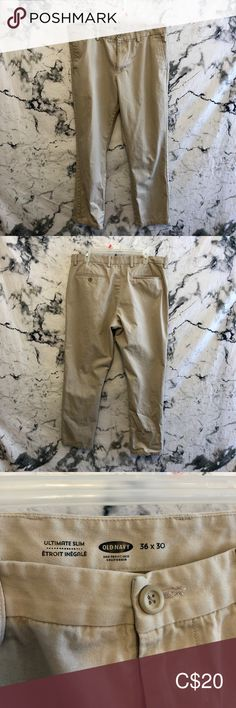 Old Navy Cargo Pants In perfect condition Old Navy Pants Cargo Old Navy Cargo Pants, Navy Pants, Welt Pocket, Slim Legs, Man Shop, Fashion Tips, Things To Sell, Closet, Style