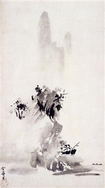 During the Muromachi period Zen Buddhism played an influential role in the development of Zen ink painting in Japan. Read more about zen ink painting in the Boundless open textbook. Japanese Ink Painting, Sumi E Painting, Chinese Painting, Chinese Art, Pintura Zen, Okayama, Yamaguchi, Arte Latina, Art Occidental