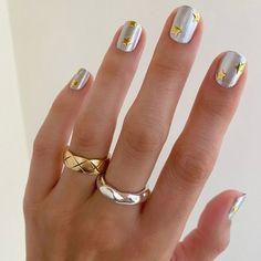 Pretty Nail Art, Cute Nail Art, Fall Manicure, Fall Nails, Cute Nails For Fall, Metal Stars, Fall Nail Art, Color Street Nails, Cute Nail Designs