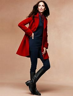 Love that red! Talbots - Three-Quarter Length Fully Lined Coat | Outerwear | Misses