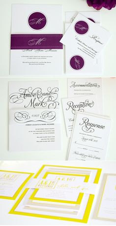 LOVE this yellow stationary design, but with our colors.