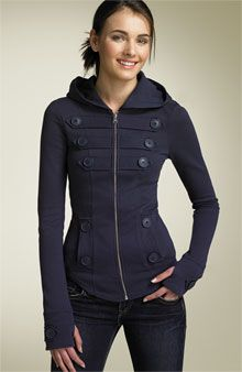 Clandestine Industries Long Sleeve Hoody View All Nordstrom - Stylehive more buttons. Mode Style, Style Me, Look Fashion, Fashion Outfits, Inspiration Mode, Look Cool, Dress Me Up, Mantel, Passion For Fashion