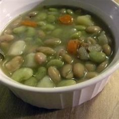 Slow cooking ease combined with fantastic flavor has made this a favorite at our house & even kid's 'yuk-lima beans' have turned into 'YUM--LIMA BEAN SOUP.'