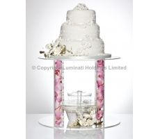 A column design acrylic cake stand which sits beautifully over our cake display water fountain. £95.04