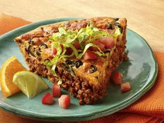 Impossibly easy chili pie. So good. Low in calories(330 per serving-6 servings in a dish) but you'd never know it. I use ground turkey or chicken for even lower calories.