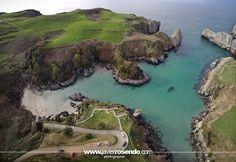 La espectacular playa de Berellín desde el aire  #Cantabria #Spain