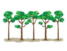 Dibujo 03: Hilera de especies maderables. LGALLP