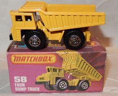 MATCHBOX LESNEY SUPERFAST - No 58 FAUN DUMP TRUCK - MIB MINT IN MINT K BOX #Matchbox