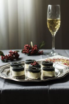 ♥ , from Iryna Mousse, Appetizer Buffet, Canapes Recipes, Modern Food, Sandwich Cake, Black Food, Tapas Bar, Food Decoration, Christmas Baking