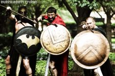 CosAwesome Studios the men of 300 with Burch Roots Studios #300 #300movie #gencon #2014 #CosAwesome #CosAwesomeStudios #cosplay