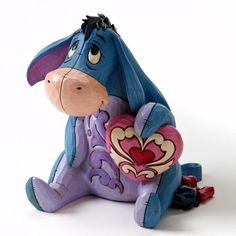 You Are Loved-Eeyore With Heart Figurine