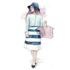 Brittany,fashion blogger #fashionillustration
