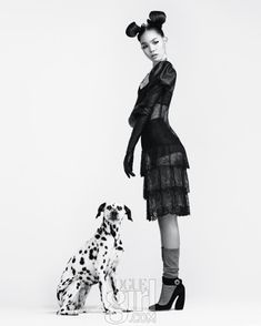 I love this photo spread, from Vogue Girl Korea. It has a Disney feel with the beautiful Dalmatian and Minnie Mouse polka dots. Oh and the ...