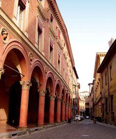 Via Zamboni - famous portico in Bologna Bologna Italy, Southern Europe, Visit Italy, Northern Italy, Ravenna, Sardinia, Sicily, Back Home, The Good Place
