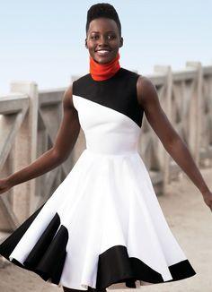 lupita colorblock dress
