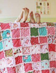 scrappy baby blanket (with fleece inside?)