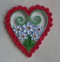Valentínske srdiečko - biely narcis