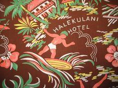Vintage 1940s Hawaiian Shirt Aloha Spirit, Vintage Hawaiian Shirts, 50s Vintage, Hula, Vintage Designs, Vivid Colors, 1940s, Jelly, Print Patterns