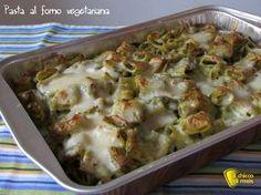 Pasta al forno vegetariana (ricetta facile). Ricetta della pasta al forno vegetariana con broccoli e mozzarella, primo piatto saporito e salutare