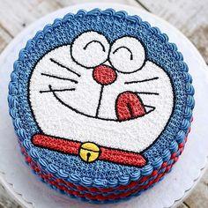 Birthday cake idea for Single Mom kids Cake Decorating Frosting, Birthday Cake Decorating, Doraemon Cake, Cartoon Birthday Cake, Simple Cake Designs, Pretty Birthday Cakes, Mom Cake, Funny Cake, Cake Shapes
