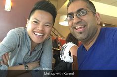 PHOTO: Lunch w/ fantastic Karen! Love her insights heart diversity & more.  We chatted almost 2 hrs about #politics #friends #parenting #FitInMyLife and narcissists.