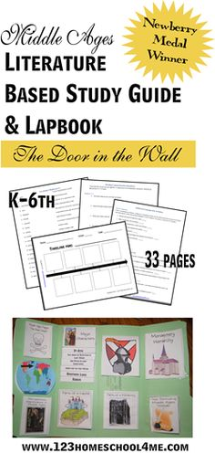 Middle Ages Literature Based Study Guide and Lapbook The Door in the Wall {33 pages} from 123Homeschool4Me
