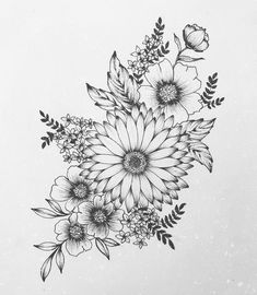 Design tattoo the pink daisy flower clock Laurence Veilleux Vintage Flower Tattoo, Simple Flower Tattoo, Small Flower Tattoos, Flower Tattoo Arm, Flower Tattoo Shoulder, Small Tattoos, Tattoo Roses, Flower Tattoo Drawings, Shoulder Tattoos