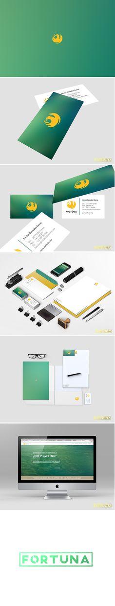 Diseño de imagen para Ave Fénix #ave #fénix #phoenix #branding #design #green