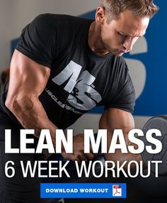 The most common goal in the gym is to build lean muscle. Give this 6 week workout program to build lean muscle a try and absolutely crush that goal! #Lean #Muscle #Mass #Workout #Fitness #Gym #Physique #Bodybuilding
