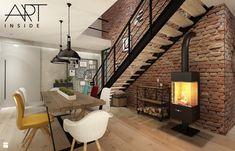 wnętrze nowoczesnego domu inspirowane loftem - zdjęcie od art inside - studio projektowania wnętrz i ogrodów - Jadalnia - Styl Industrialny - art inside - studio projektowania wnętrz i ogrodów