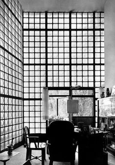 The Maison de Verre (House of Glass) is a collaboration of the interior and furniture designer designer Pierre Chareau, the Dutch architect Bernard Bijvoet and The French metal craftsman Louis Dalbet. Description from pinterest.com. I searched for this on bing.com/images