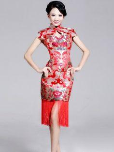 Pin by CozyLadyWear on Qipao & Cheongsam Chinese Style, Chinese Tea, Traditional Chinese, Chinese Clothing, Korean Fashion, Chinese Fashion, Bridesmaid Dresses, Wedding Dresses, Cheongsam
