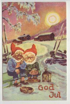 God Jul- (2 sultne nisser) brukt 1950, Oppi