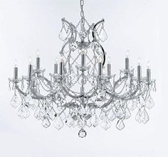 This beautiful Chandelier is trimmed with Empress Crystal(TM) This beautiful Chandelier is trimmed with Empress Crystal (TM) Maria Theresa 100% Crystal Chandeli