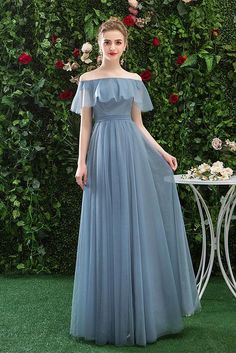 Buy Simple Off the Shoulder Tulle Long Prom Dresses, Blue Bridesmaid Dresses online.Shop short long ombre prom, homecoming, bridesmaid evening dresses at Couture Candy Cocktail party dresses, formal ball gowns in ombre colors. Ruffles Bridesmaid Dresses, Prom Dresses Blue, Cheap Prom Dresses, Formal Dresses, Wedding Dresses, Chiffon Dresses, Long Dresses, Fall Dresses, Dance Dresses