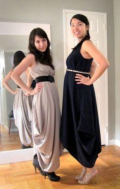 DIY Draped maternity dress