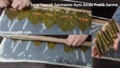 Yaprak sarmasını sarmanın zorluğunu ev hanımları çok iyi bilir. 7 tane yaprak sarmasını aynı anda pratik sarma tekniğini kullanarak, bir tencere sarmayı ço