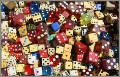 I think a bowl-full of old dice would be a very cool centre-piece.  Many sizes & colours. I did not type the idea above ^ I think this ideas is dorky and the fact that my brother wanted me to pin this for him is even worse !!!!!