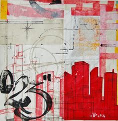 """""""0,23"""" by Elise Oudin Gilles -  Oil and acrylic on canvas #Buildings #City"""