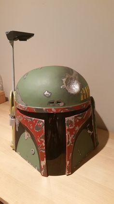 Step by step tutorial to make Boba Fett's helmet & gun