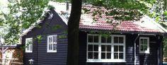 Scandinavisch vakantiehuis in Friesland, Boshuis Nij Hildenberg. Max 8 personen (3 slaapkamers)